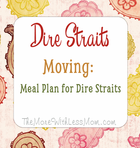 Dire Straits Moving: Meal Plan for Dire Straits