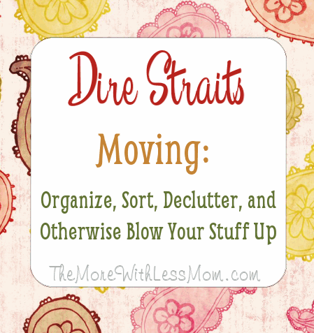 Dire Straits Moving: Organize, Sort, Declutter, and Otherwise Blow Your Stuff Up